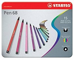 STABILO PEN 68 – Confezione da 15 pz.