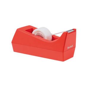 Scotch Dispenser ricaricabile per nastro adesivo da 19 mm x 33 m – Rosso