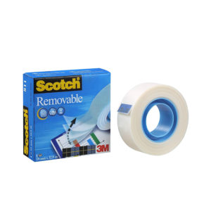 Scotch Magic 811 – Nastro adesivo rimovibile invisibile – 19 mm x 33 m