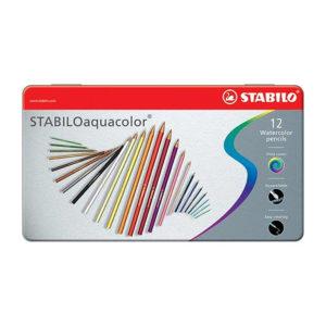 STABILO AQUACOLORO – Confezione metallo da 12 pz.