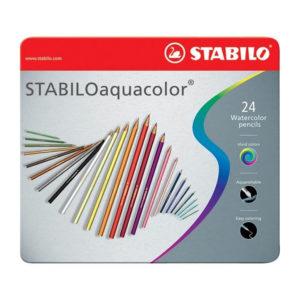 STABILO AQUACOLORO – Confezione metallo da 24 pz.