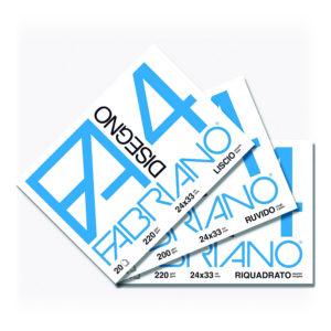 Fabriano F4, Album da Disegno, Formato 33×48 cm, Fogli lisci, 200g/mq